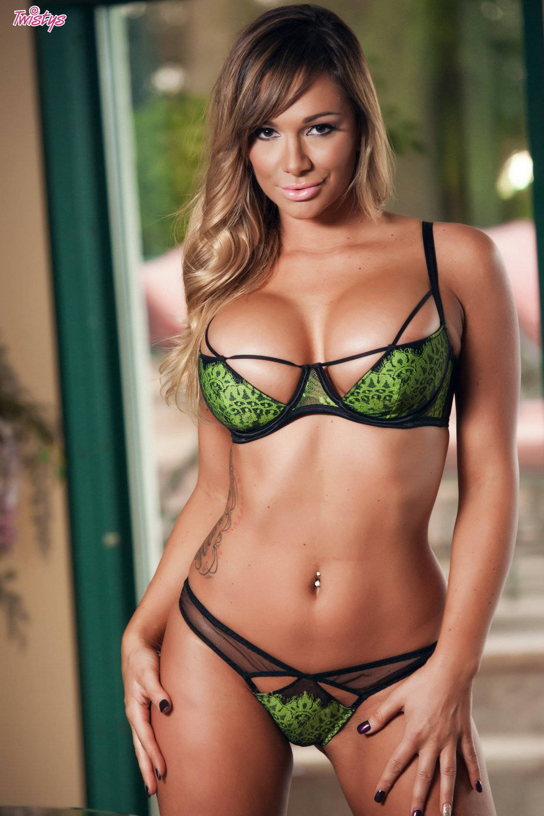 Brazzers green bikini cable situation