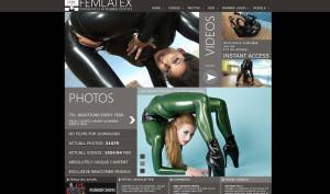 fem latex porn site
