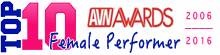 TOP 10 AVN Awards - Female Performer of the Year 2006-2016