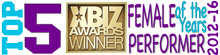 "TOP 5 XBIZ Award ""Female Performer of the Year"" 2012-2016"
