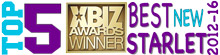 "TOP 5 XBIZ Award ""Best New Starlet"" 2012-2016"