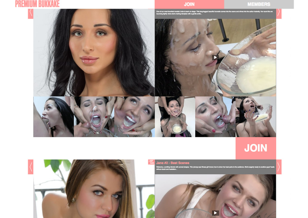 All woman bukkake porn site