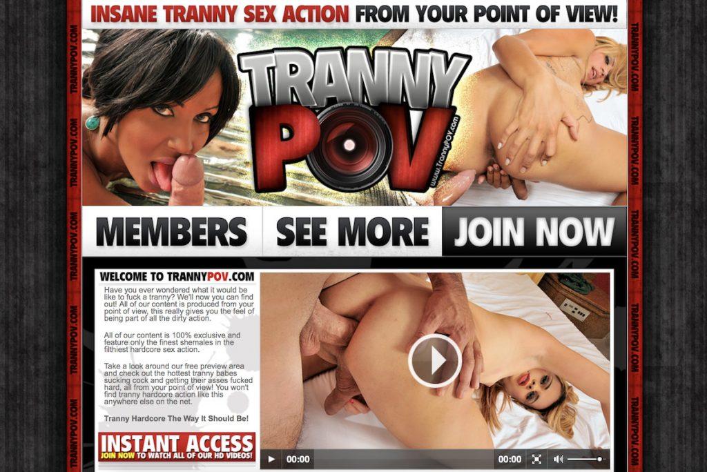 Tranny POV porn site