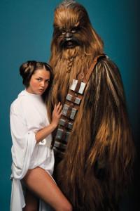 Allie Haze and Chewbacca