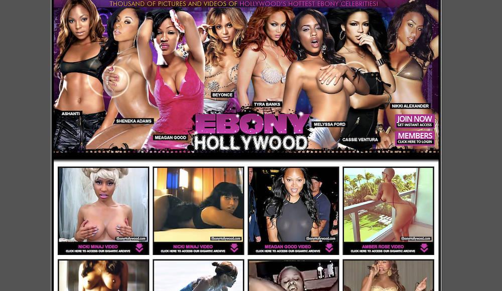 Hollywood ebony porno