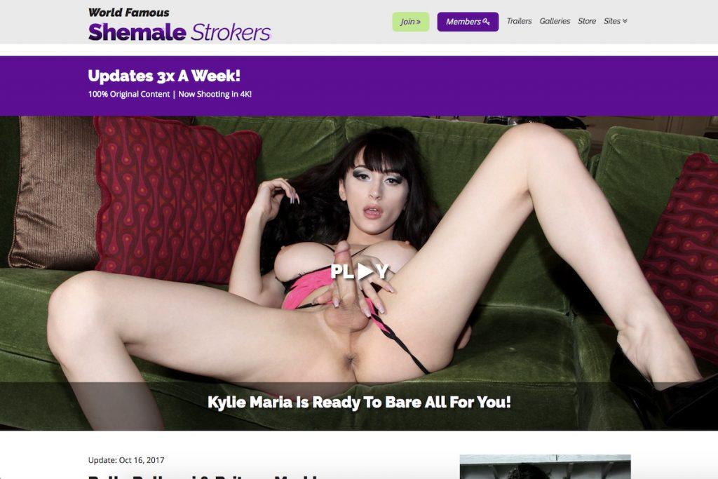 Shemale Strokes porn site