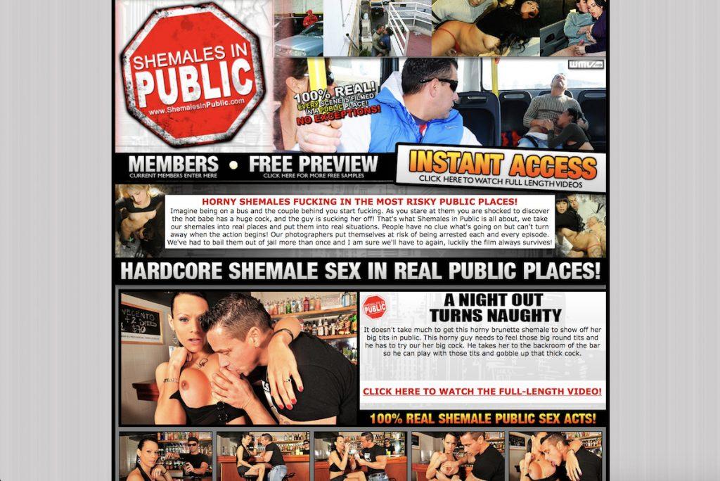 Shemales in Public porn site
