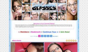 cum covered glasses porn site