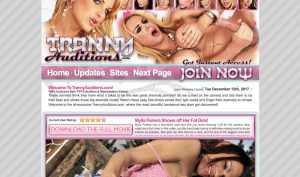 tranny auditions porn site